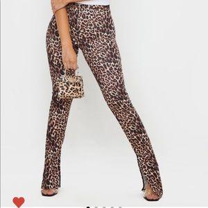 Stone Leopard Print Pants